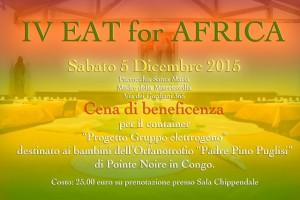 151113 locandina per la IV EAT FOR AFRICA